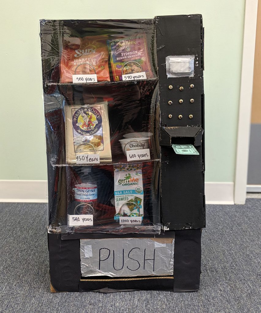 2019 1st Place Class: Decomposing Vending Machine, North Hillsborough School